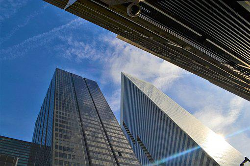 Architecture, Office, City, Business, Glass Items, Sky