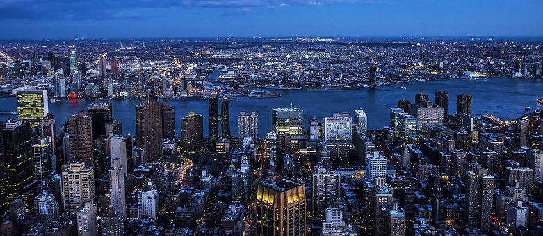 Panoramic, Skyline, Panorama, City, Cityscape, New York