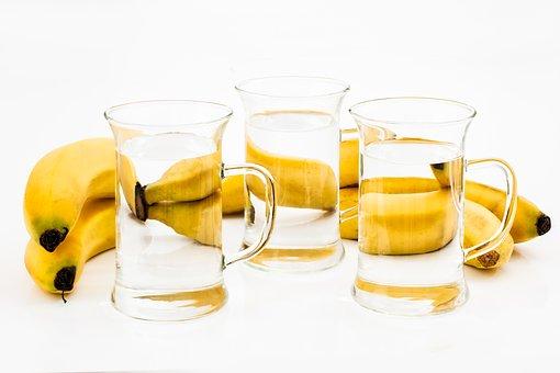 Glass, Drink, Refreshment, Banana, Liquid, Fruit, Water