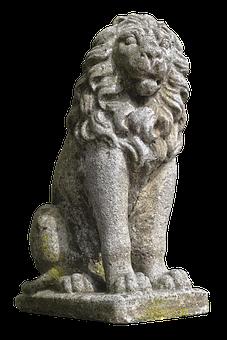 Lion, Stone Figure, Heraldic Animal, Bavaria Lion