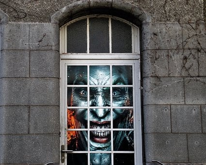 Architecture, Window, House, Old, Facade, Clown, Pane