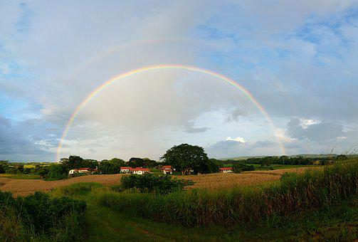 Rainbow, Panoramic, Sky, Nature, Tropical, Landscape