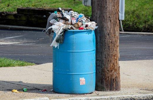 Garbage, Trash, Recycling, Bin, Disposal