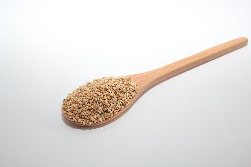 Food, Sesame, Spoon