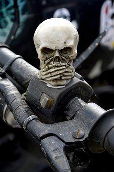 Vehicle, No Person, Human, Skull, Skeleton, Gothic
