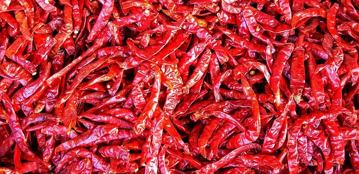 Red, Dried, Hot, Chilli, Thai, Cooking, Food