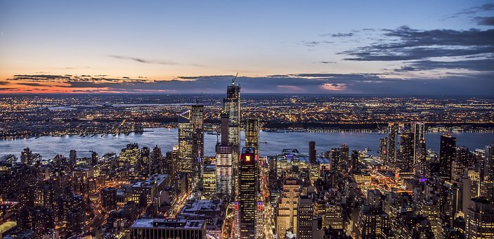 Panoramic, City, Water, Travel, Cityscape, New York