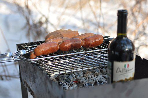 Food, Wine Picnic, Smoke