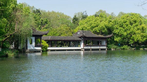 Waters, Nature, Wood, River, Lake, Pavilions