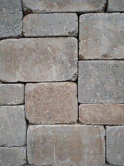 Stone, Cube, Brick, Concrete, Cement