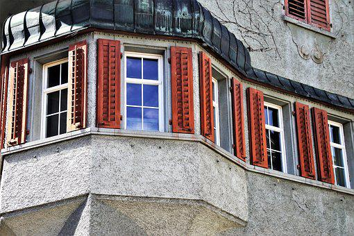 Window, House, Architecture, Old, Building, Peak