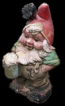 Dwarf, Imp, Garden Gnome, Historically, Figure, Ceramic