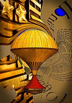 Composing, Golden, Art, Digital Art