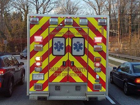 Ambulance, Ambo, Vehicle, Fire, Crash, Doctor