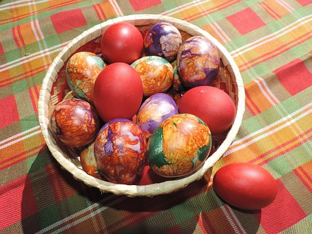 Food, Basket, Easter, Red, Colorful, Decoration