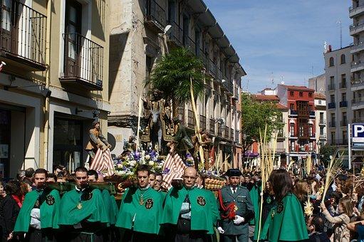 Procession, Valladolid, Step, Palmas, Easter, Street