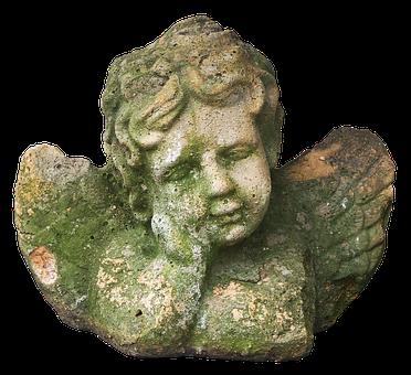 Figure, Angel, Cherub, Sleeping, Stone Figure