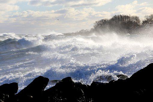 Sturmflut, Nature, Spray, Surf, Wave, High Water, Flood