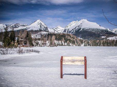 Frozen Lake, Panorama, Winter, Nature, Ice, Frost