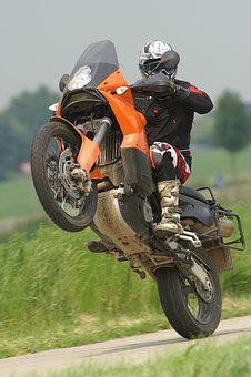 Wheelie, Motorbike Motorcycle, Bike, Hurry, Wheel