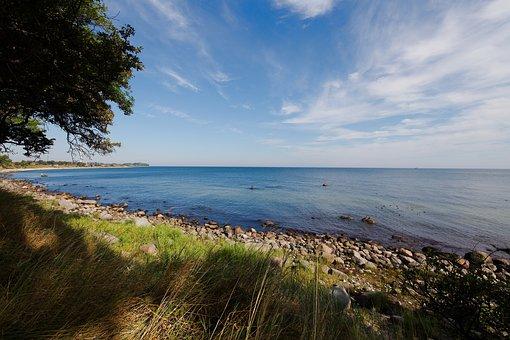 Sea, Nature, Coast, Waters, Panorama, Sky, Landscape