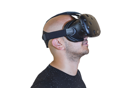 Vr, Bald, Guy, Reality, Virtual, Glasses, Male, 3d