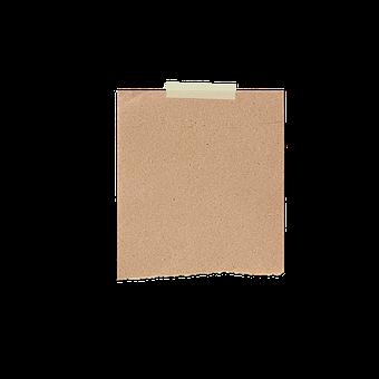 Paper, Adhesive Tape, Brown, Note, Memo
