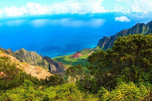 Napali, Kauai, Hawaii, Beach, Ocean, Nature, Panoramic