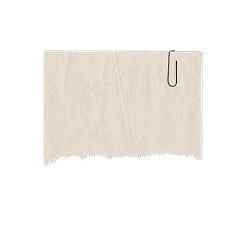 Paper Clip, Paper, Torn, Note