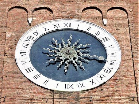 Watch, Old, Symbol, Ancient, Campanile, Veneto, Italy