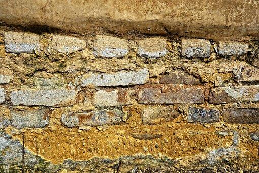 Brick Wall, Masonry, Mortar, Sand And Clay, Ancient