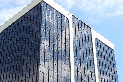 Glass Items, Office, Architecture, Sky, Skyscraper