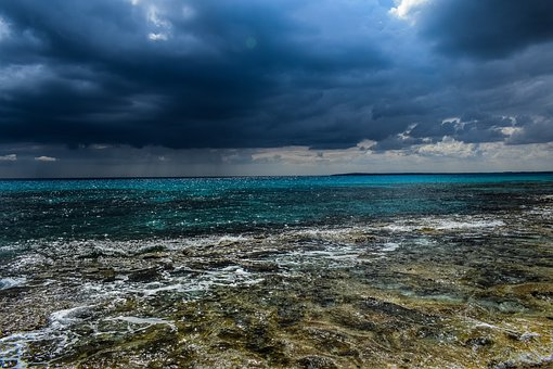 Stormy Clouds, Sea, Water, Sky, Travel, Nature, Beach