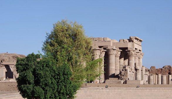 Egypt, Kom-ombo, Temple, Sobek, Haroëris, Gods