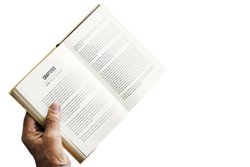 Book, Hand, Isolated, Transparent, White, Paper, Design