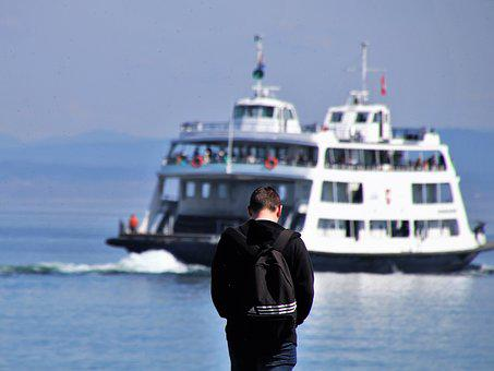 Ferry, Lake, Bodensee, Ship Water, Transport, Travel