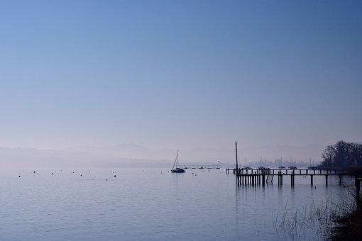 Waters, Sea, Sky, Nature, Lake, Web, Water, Haze