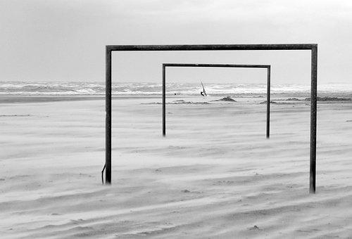 Beach, North Sea, Langeoog, Surf, Wind