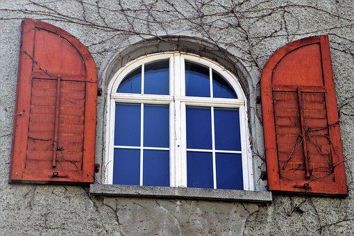 Shutters, Window Sill, Window, Architecture, House, Old