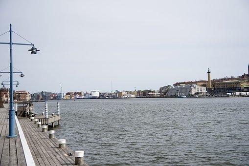 Body Of Water, Pir, River, All, Ship, Gothenburg