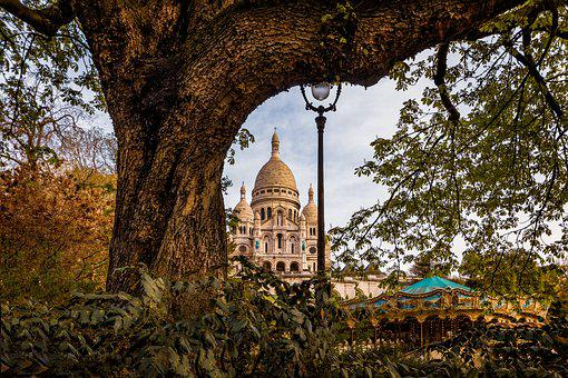 Paris, Montmartre, Sacred Heart, France, Basilica