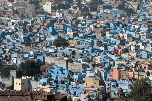 City, Architecture, Urban Landscape, Travel, Blue City