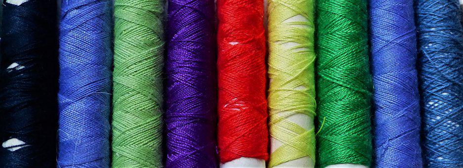 Textile, Cotton, Wire, Color, Coil, Multicolor, Sewing