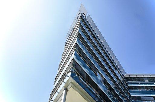 Architecture, Sky, Company, Skyscraper, Glass, Office
