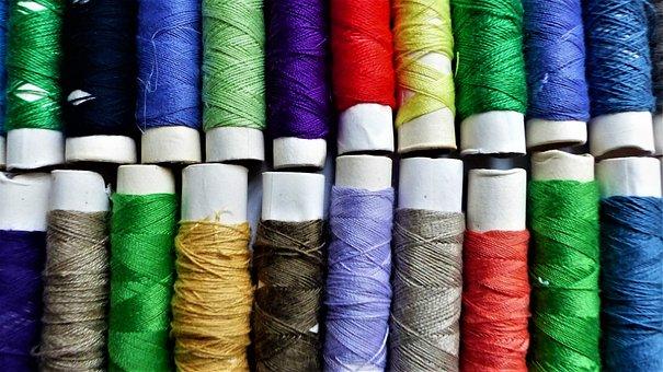 Wire, Cotton, Couture, Coil, Textile, Multicolor