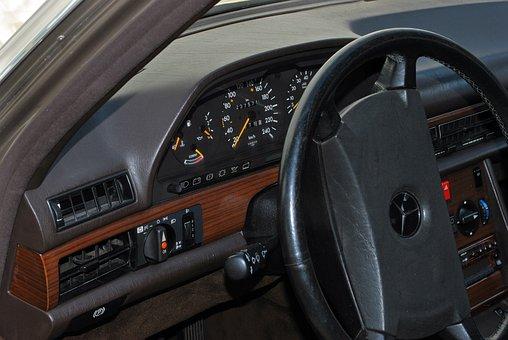 Auto, Mercedes, W126, S Class, Dashboard, Vehicle