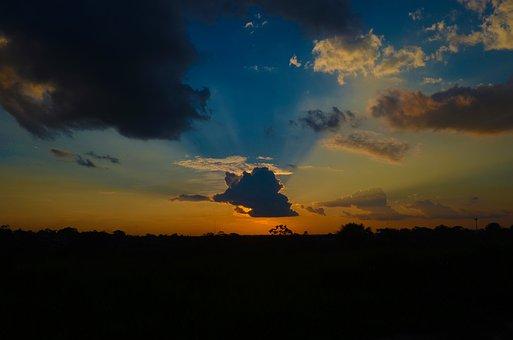 Sunset, Panoramic, Nature, Dawn, Landscape, Loreto, Sun