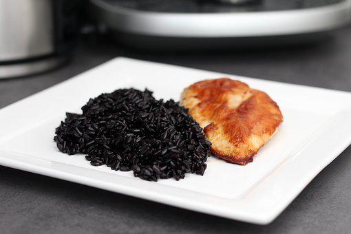 Food, Meal, Plate, Healthy, Delicious, Black Rice, Rice