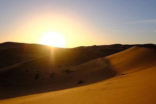 Desert, Sunset, Dawn, Landscape, Sand, Sunrise, Sahara
