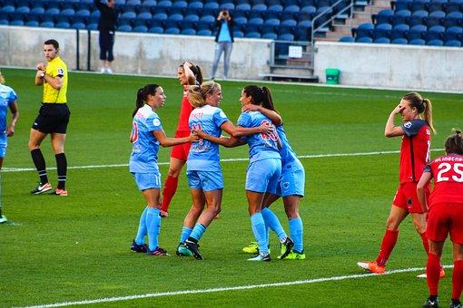 Soccer, Ball, Football, Goal, Match, Women, Sport